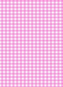 5 x A4 Pink Gingham Card Stock, Size:- Large - GING18