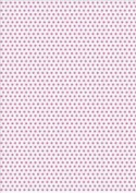 5 x A4 Hot Pink Polka Dot Card Stock, Dot Size:- Medium - PD12
