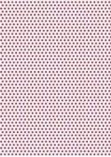 5 x A4 Crimson Polka Dot Card Stock, Dot Size:- Medium - PD6