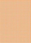 5 x A4 Orange Gingham Card Stock, Size:- Small - GING11