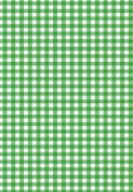 5 x A4 Green Gingham Card Stock, Size:- Large - GING14