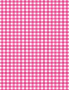 5 x A4 Hot Pink Gingham Card Stock, Size:- Large - GING17