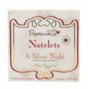 Papermania Notelets A Silent Night 7.6cm x 7.6cm - 160gsm