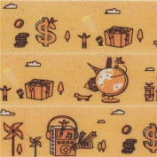 light orange with globe music player Washi Masking Tape deco tape