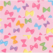 cute light pink with colourful bow deco tape sticky tape