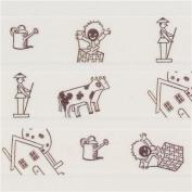 white with house cow Washi Masking Tape deco tape Shinzi Katoh Japan