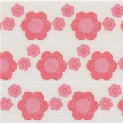 white with pink flower Washi Masking Tape deco tape