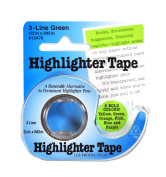 Removable Highlighter Tape 1.3cm x 11yds Green