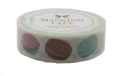 Amifa Japan Collection Colourful and Delicious French Macaroon Washi Masking Deco Tape Standard