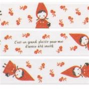 white Little Red Riding Hood Washi Masking Tape deco tape Shinzi Katoh Japan