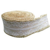 5M DIY Handmade Christmas Craft Lace Hemp Linen Reel Roll Lace Linen Home Decor,type 3