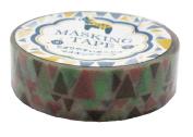 Amifa Japan Collection Folk Nordic Washi Masking Deco Tape Standard Earthy Combination.