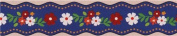 thin die-cut blue flower leaf Masking Tape deco tape from Japan