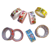 Homgaty 10 Roll Colourful Cartoon Cute Decor Scrapbooking Tape Paper Sticky Adhesive Sticker 1.5 cm DIY