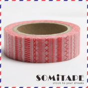 Red Pattern Tape Washi Tape, Craft Decorative Tape
