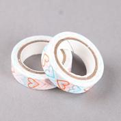 Blue & Orange Hearts Washi Tape, Craft Decorative Tape by SHOKK™