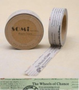 Paper Washi Tape Wheels of Chance stamps Design 10m x 1.5 cm