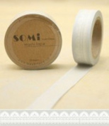 Paper Washi Tape White Grey Lace 10m x 1.5 cm