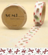 Washi Tape Little red green presents Design 10m x 1.5 cm