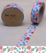 Washi Tape Pink Pretty flowers Design 10m x 1.5 cm