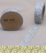 Washi Tape Sage Green Spiral floral flowers Design 10m x 1.5 cm