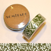 Washi Tape Green Alphabet Letters 10m x 1.5 cm