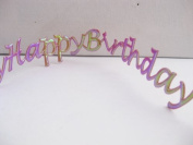 Happy Birthday cut out adhesive tape - 50cm length. RRCC0010