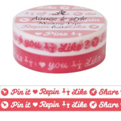 Pin it - 2 x rolls one red one white Aimez le style Japanese Washi Tape 10mm x 12 m