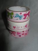 Craft Decorative Adhesive Masking Washi Tape 3pack of 2m rolls - assorted designs
