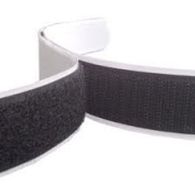 5m Hook and Loop Tape, Black, 20mm Wide Self Adhesive, Sticky backed
