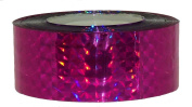"""Prismatic Holographic Tape - 1"""" x 147ft (2.4cm x 45m) - Blue, Green, Yellow, Fuchsia, Pink, Silver, XMas - For Arts & Crafts, Wrapping, Hula Hoop"""