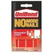 Unibond No More Nails Strip Ultra-strong Permanent Translucent [Pack 12]