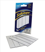 Sellotape Sticky Fixers Outdoor Double-sided Weather-resistant 20x20mm 48 Pads Ref 1445421 [Pack of 12]