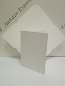 10 x Watercolour Blank White Greeting Cards A6 300gsm + C6 Plastic Envelope Template JLH073