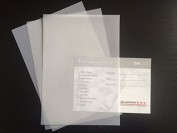 25 Sheets of A4 Tracing Paper Clear – 200 g/m² White Excellent Visibility, Very Good Quality, ideal for Invitations, Business Card, Photo Album Inserts Available Wedding Card Menu Card Making, Crafts and More