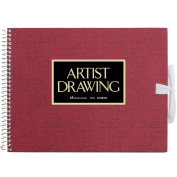 ARTIST MEDALLION F0 Sketchbook For Watercolour - Red