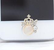 Nalmatoionme Fashion Vintage Crown Charm Phone Home Return Key Button Sticker