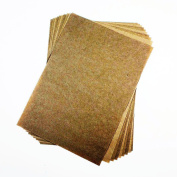 10 Sheets Pack - A4 Kraft Brown Ribbed Paper 88gsm - Suitable for Pencils, Charcoal, Pastels, Arts & Crafts - Ideal for Students and Professional Artists