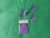 50 deep purple monarch paper butterflies