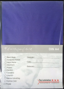 100 Sheets of DIN A2 Purple Blue Top Lamination Paper Matte 170gsm – Dyed All Possible use
