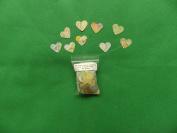 Vintage heart wedding confetti from an atlas 2cm x 2cm
