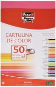 Fixo 11110354 – Pack of 50 Card, A4, fuchsia