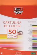 Fixo 11110352 – Pack of 50 Card, A4, Orange