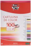 Fixo 11110454 – Pack of 100 Card, A4, fuchsia