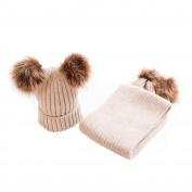 Baby Hats Keep Warm Set Cute Hat Scarf Winter Kids
