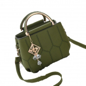 WANG Messenger Bag Handbag Shoulder Bag Wild Personality Fashion Handbags 24 * 13 * 26cm,Green