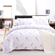 CanKun Twill Printing Cotton Duvet Cover Pillowcase and Bed Sheet Set Bedding Four Sets , 001 , Double