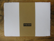 DoubleCards Set of 10 A6 Doubles Handmade Card unfolded Handmade 500 GSM 10 Sheets/Set Pure Cotton Linters