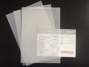 50 Sheets DIN A4 Clear Transparent Paper – 100g/m² White Excellent Visibility, Very Good Quality, ideal for Invitations, Business Card, Photo Album Inserts Available Wedding Card Menu Card Making, Crafts and More