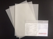 Tracing Paper 100 Sheets DIN A5 Top Lamination Excellent Transparent, Very high quality ZANDERS Spectral Brilliant White 100g/m², Invitation Cards, Business Cards, Insert Sheets Great for Scrapbooking, Wedding Day Gift Boxes Menu Card Making, Crafts an ..